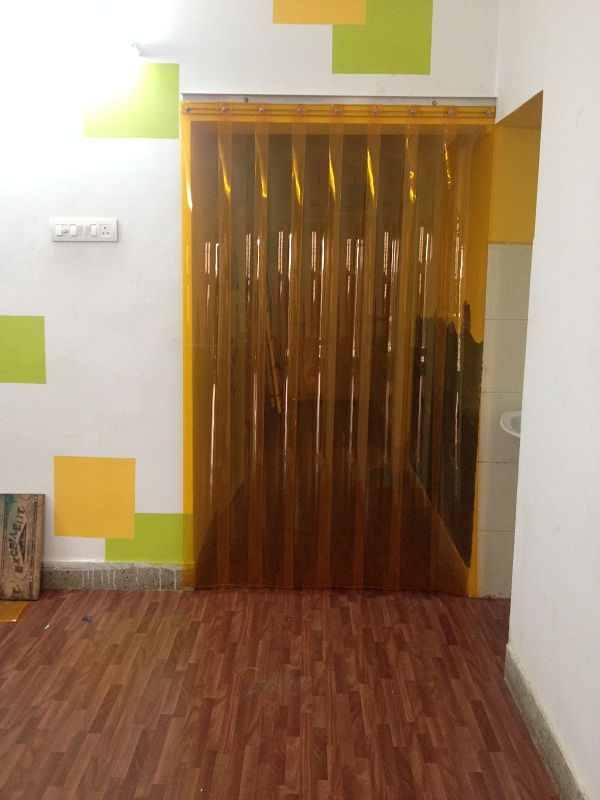 insect amber pvc strip curtains